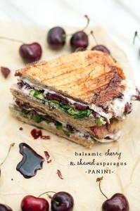 Balsamic Cherry and Shaved Asparagus Panini   spachethespatula.com #recipe