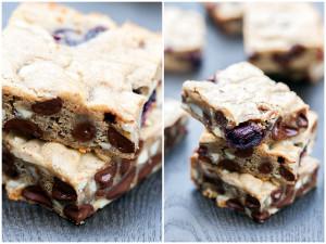 Chocolate Cherry Almond Bars (Two Ways!) | spachethespatula.com #recipe