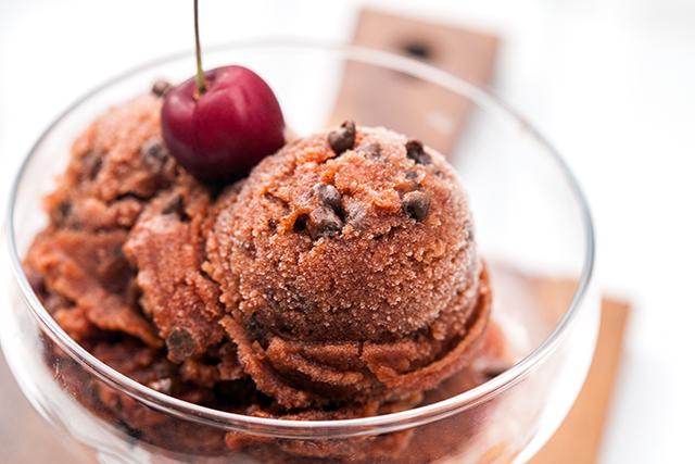 Cherry Chocolate Chip Sorbet   spachethespatula.com #recipe