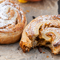 Spiced Pumpkin and Cream Cheese Puff Pastry Spirals   spachethespatula.com #recipe