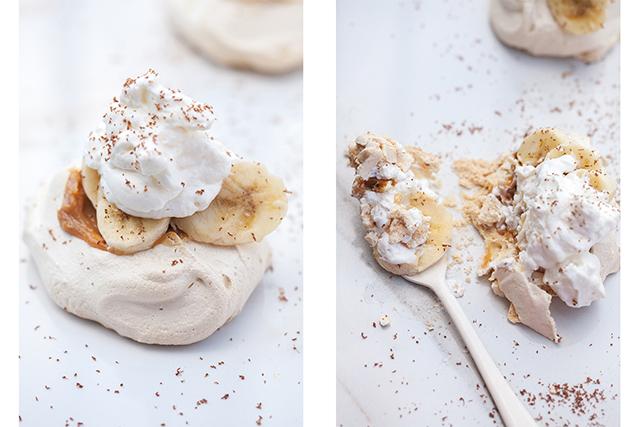 Mini Banoffee Pavlovas   spachethespatula.com #recipe