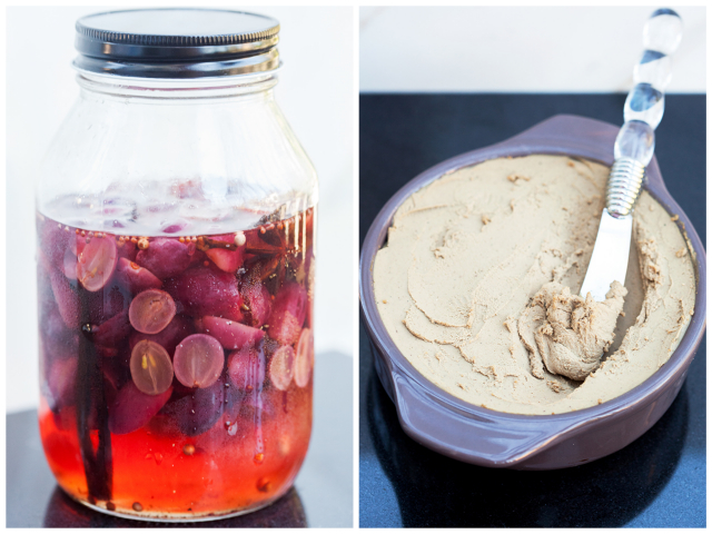 Julia Child's Chicken Liver Mousse and Spiced Pickled Grapes | spachethespatula.com #recipe