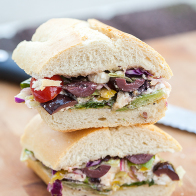 Greek Salad Sandwich | spachethespatula.com #recipe