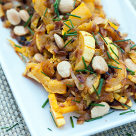 Miso-Harissa Delicata Squash and Caramelized Onions | spachethespatula.com #recipe