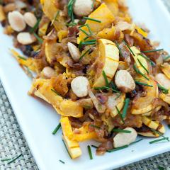Miso-Harissa Delicata Squash and Caramelized Onions | spachethespatula.com #recipe