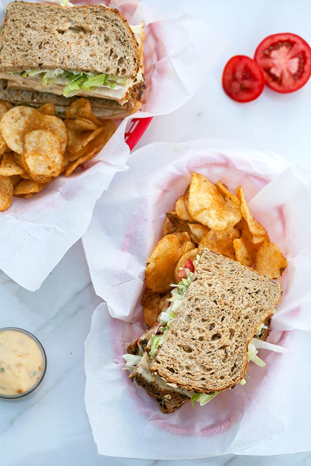 Chicken and Havarti Deli Sandwich with Sage-Peach Mayo | spachethespatula.com #recipe