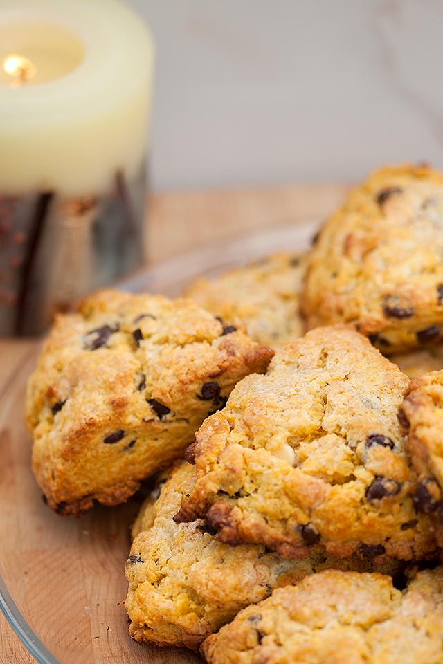 Double Chocolate Pumpkin Scones | spachethespatula.com #recipe