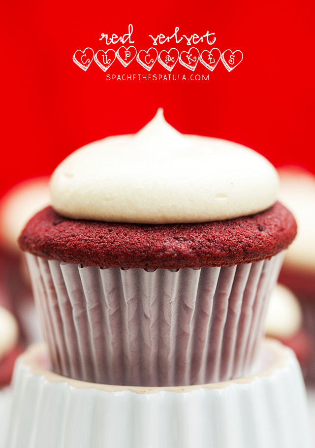Red Velvet Cupcakes Spache the Spatula