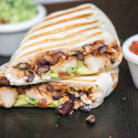You can use any white fish in these flavorful, simple burritos, packed with cilantro-lime rice, and black beans cooked in tomato juice! | spachethespatula.com #recipe