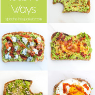 Avocado toast can be so much more interesting that just toast + avocado; check out these 5 awesome variations on the classic! | spachethespatula.com #recipe