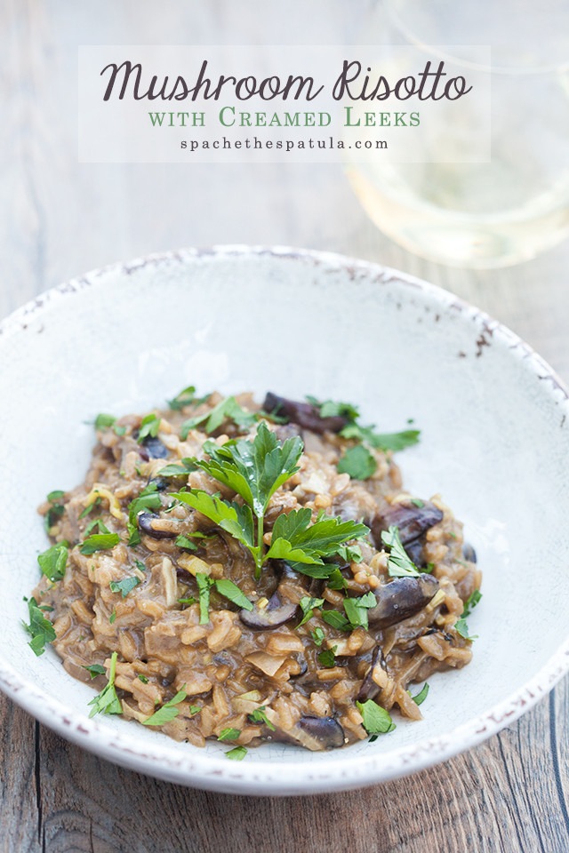 A secret ingredient packs a wallop of mushroom flavor into the creamy, decadent dish. It's the BEST mushroom risotto I've ever tried! | spachethespatula.com #recipeAfter 20-30 minutes, the rice should be tender with a very slight bite. Remove from the heat and stir in the