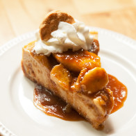A Do-Si-Do Girl Scout cookie base, a peanut butter & banana cheesecake filling, and a bananas foster topping...it doesn't get any better than this folks!   spachethespatula.com #recipe