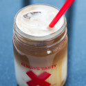 Just like Starbuck's iced caramel macchiato, but with maple! Stupid easy, but crazy good! | spachethespatula.com #recipe