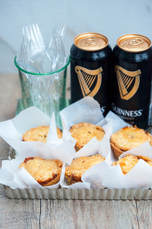 Buttery, flakey hand pies filled with the best beef and Guinness beer filling! Perfect for St. Patrick's Day! | spachethespatula.com #recipe