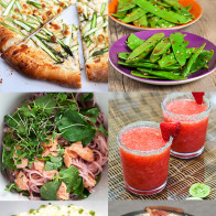Dozens of recipes using Spring produce, organized by ingredient---everything from asparagus to watercress, sweet and savory!   spachethespatula.com #recipe