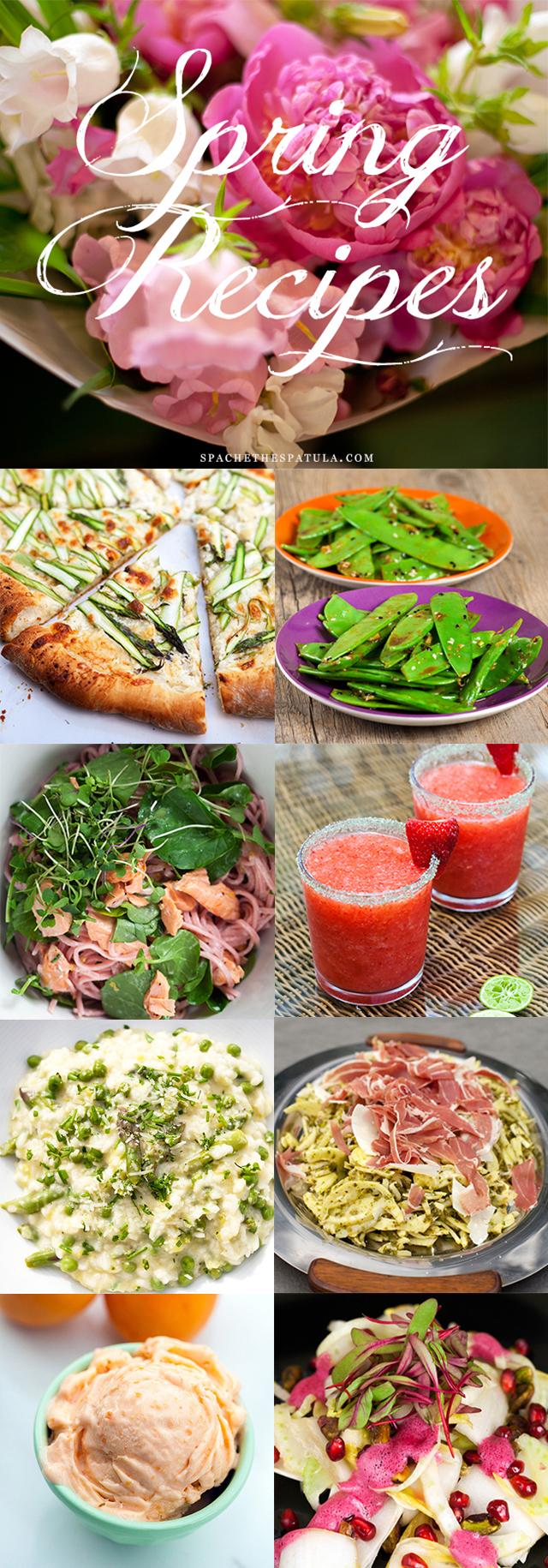 Dozens of recipes using Spring produce, organized by ingredient---everything from asparagus to watercress, sweet and savory! | spachethespatula.com #recipe