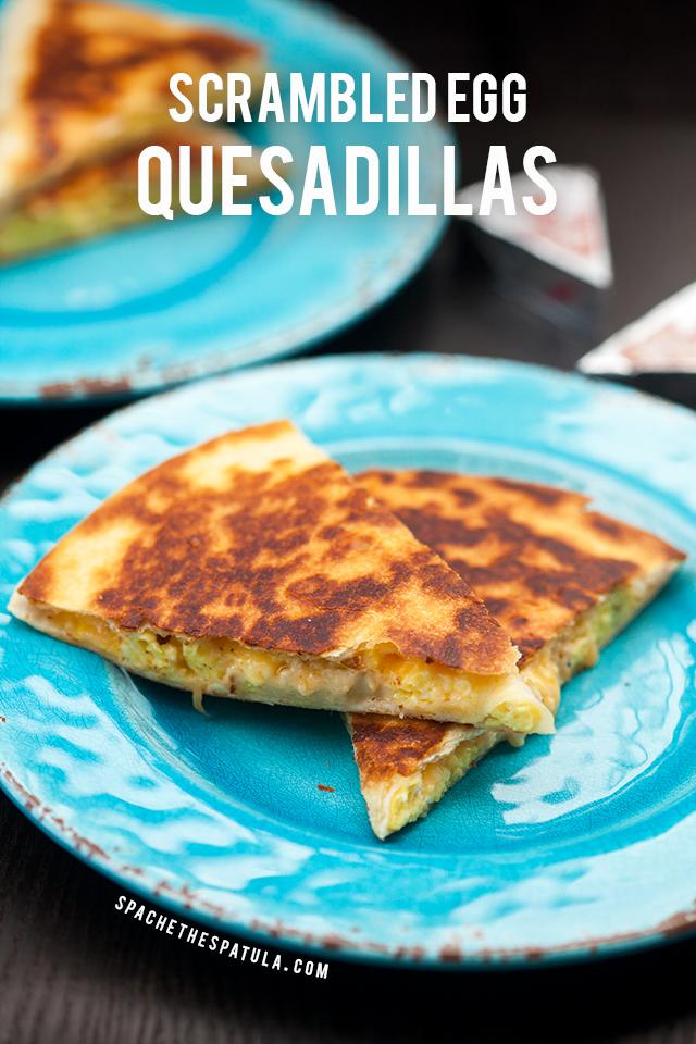 Creamy, cheesy scrambled eggs stuffed inside a crisp, golden brown tortilla!   spachethespatula.com #recipe