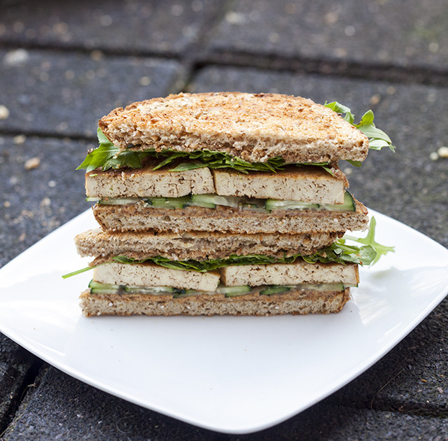 Tofu and Almond Butter Sandwich | Easy Vegetarian Recipes