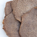 This spongy, slightly sour flatbread is an important part of any Ethiopian feast! | spachethespatula.com #recipe #vegan #glutenfree