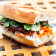Sticky-sweet, sorta spicy, and vibrantly fresh---this banh mi will knock yours socks off! | spachethespatula.com #recipe #vegan