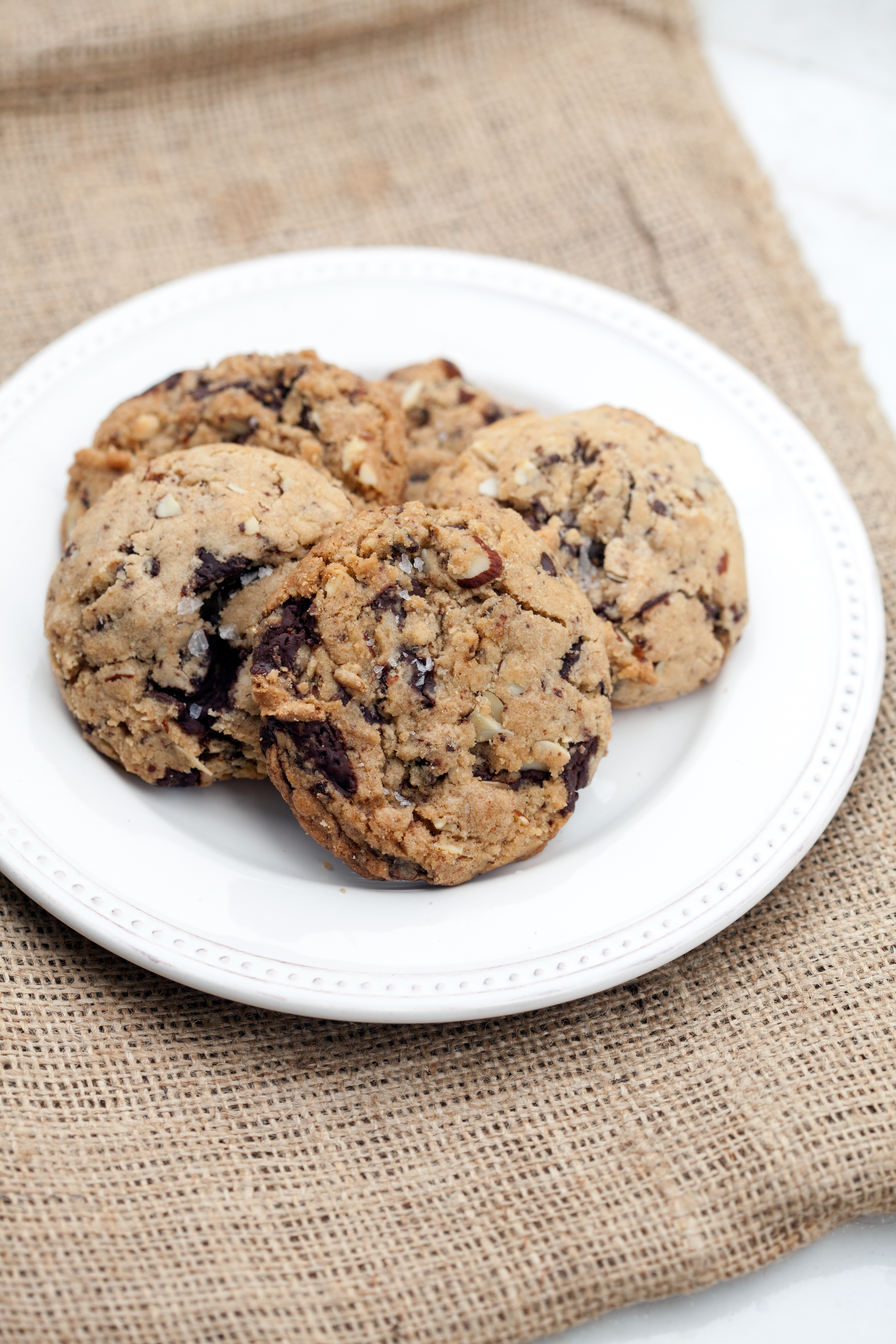 Tasty and comforting chocolate chip cookies with almonds, that just happen to be vegan (and a side of sorrow and anger at recent events) | spachethespatula.com #recipe