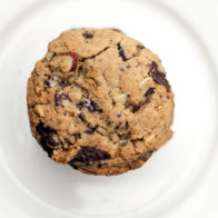 Tasty and comforting chocolate chip cookies with almonds, that just happen to be vegan (and a side of sorrow and anger at recent events)   spachethespatula.com #recipe