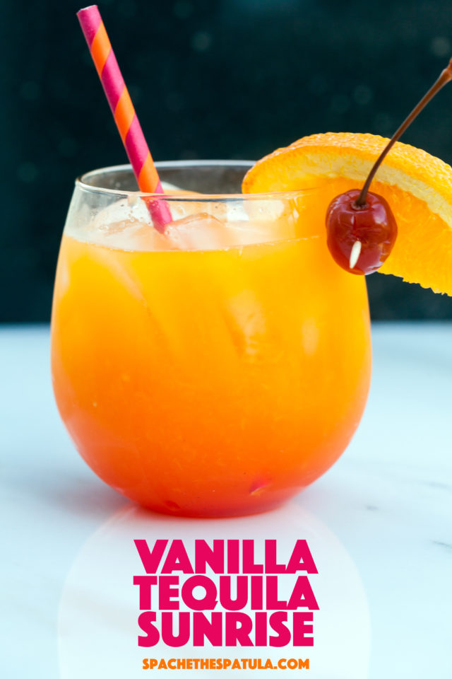 A tiny twist on this tequila brunch cocktail gives it a creamsicle flavor! | spachethespatula.com #recipe